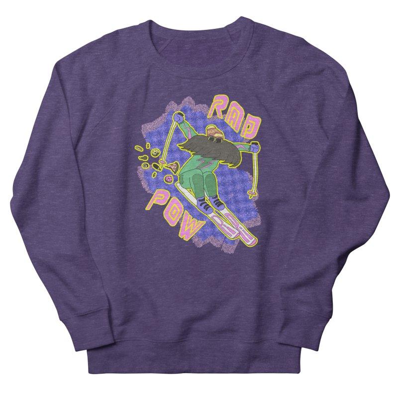 True '80s Ski Legend - Rad Pow Women's French Terry Sweatshirt by The Wandering Fools