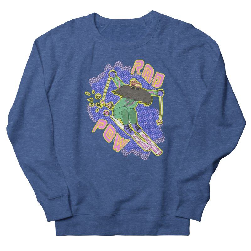 True '80s Ski Legend - Rad Pow Men's French Terry Sweatshirt by The Wandering Fools