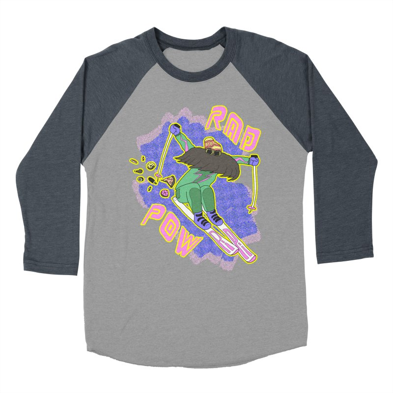 True '80s Ski Legend - Rad Pow Women's Baseball Triblend Longsleeve T-Shirt by The Wandering Fools