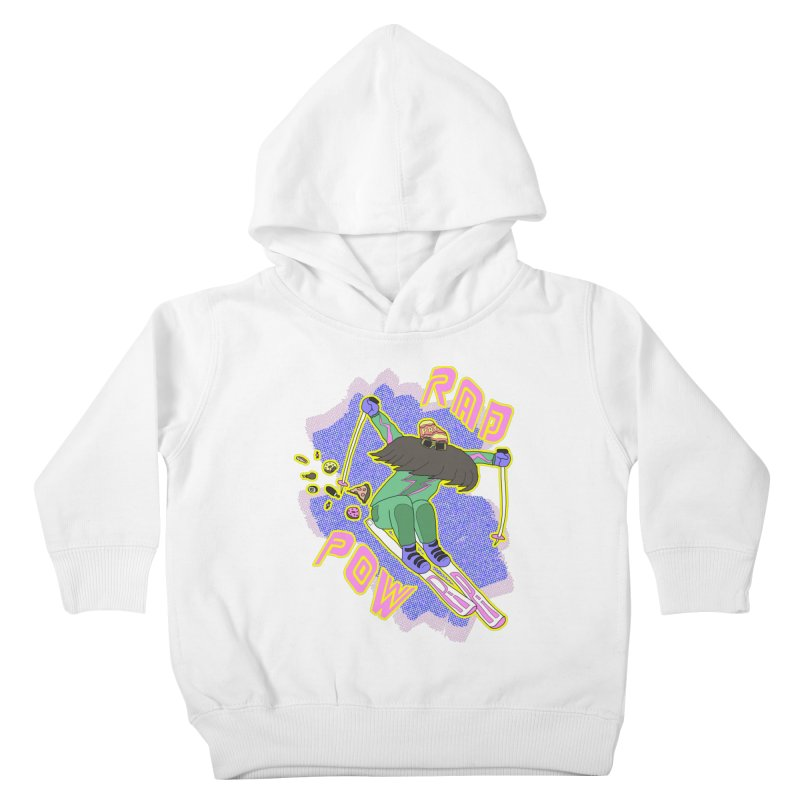 True '80s Ski Legend - Rad Pow Kids Toddler Pullover Hoody by The Wandering Fools