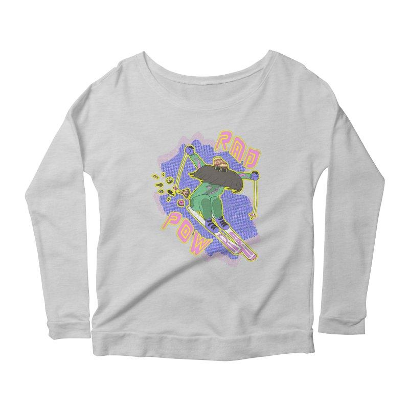 True '80s Ski Legend - Rad Pow Women's Scoop Neck Longsleeve T-Shirt by The Wandering Fools