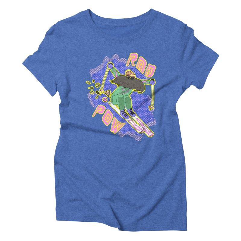 True '80s Ski Legend - Rad Pow Women's Triblend T-Shirt by The Wandering Fools