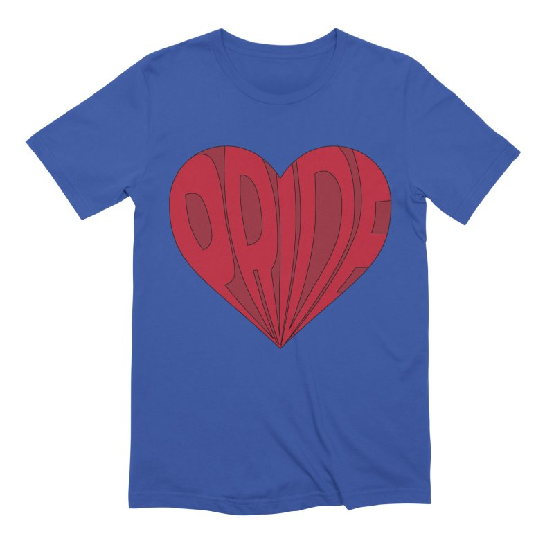 Pride in Men's Extra Soft T-Shirt Royal Blue by The Wandering Fools