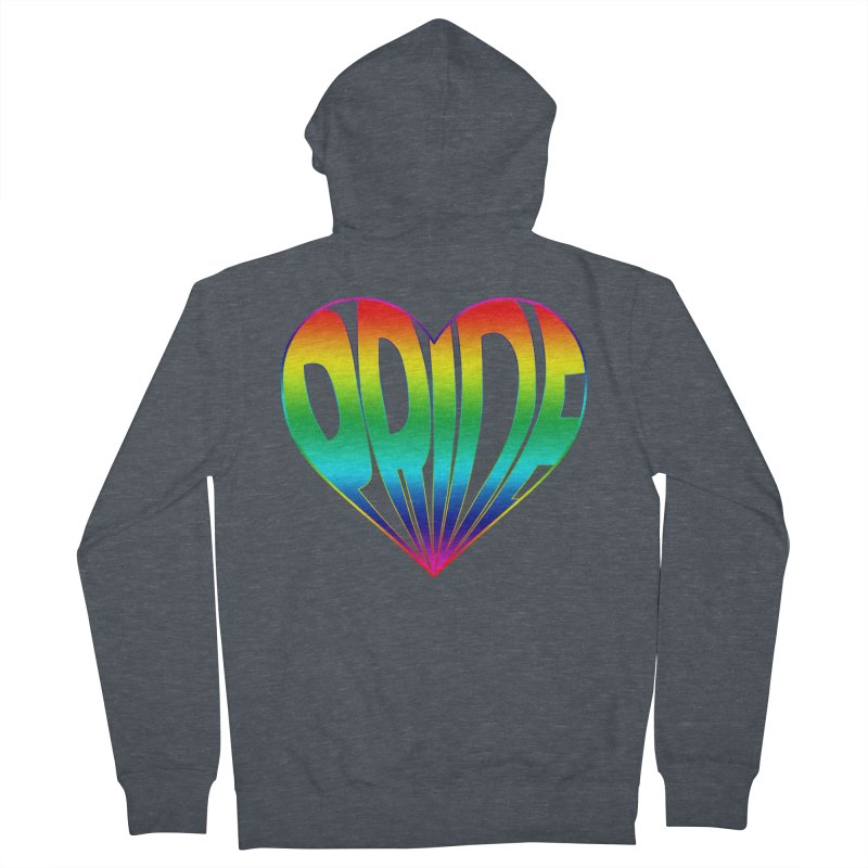 Pride - Rainbow Women's French Terry Zip-Up Hoody by The Wandering Fools