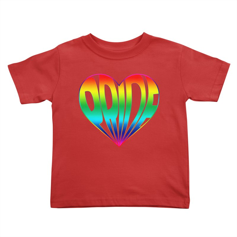 Pride - Rainbow Kids Toddler T-Shirt by The Wandering Fools