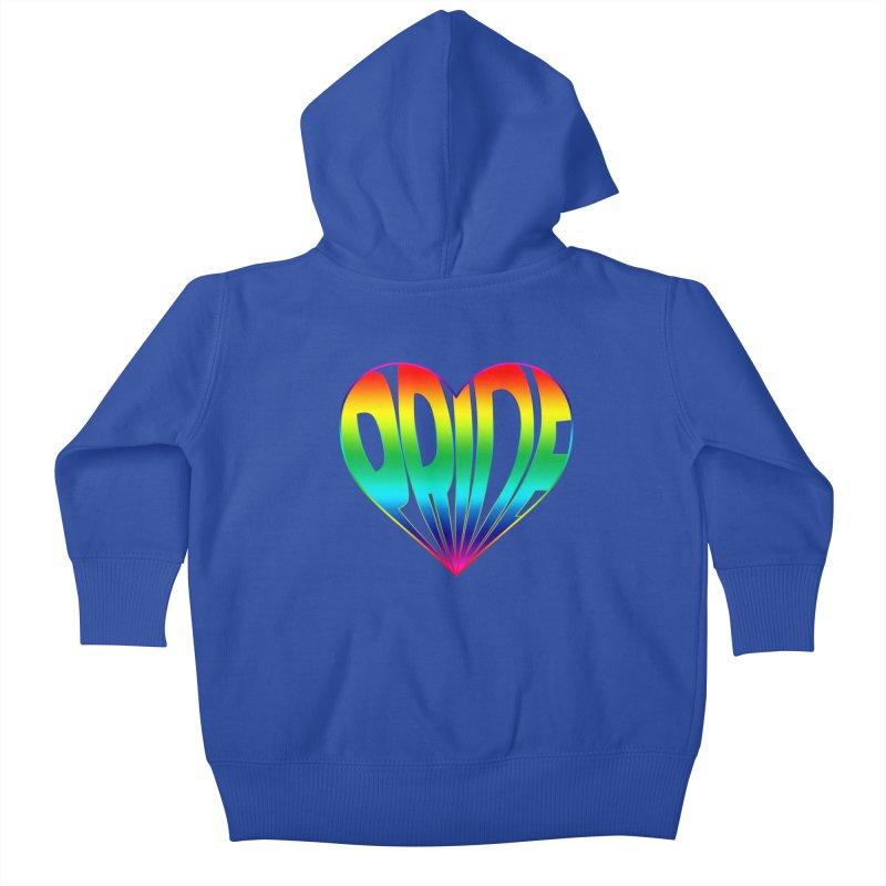 Pride - Rainbow Kids Baby Zip-Up Hoody by The Wandering Fools
