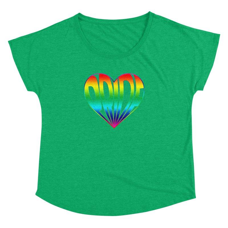 Pride - Rainbow Women's Dolman Scoop Neck by The Wandering Fools