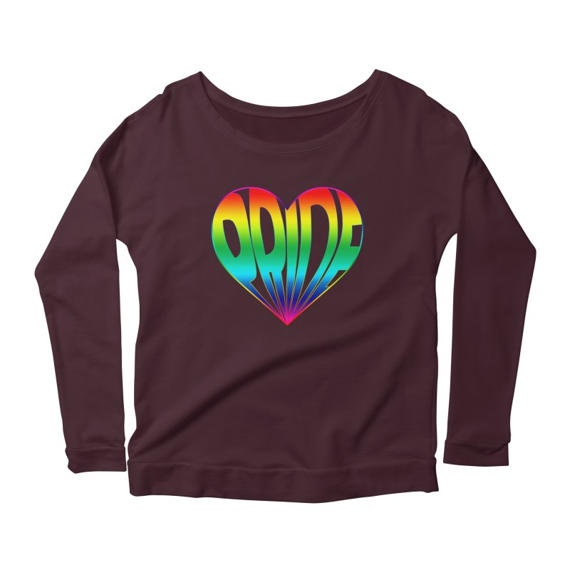 Pride - Rainbow Women's Scoop Neck Longsleeve T-Shirt by The Wandering Fools