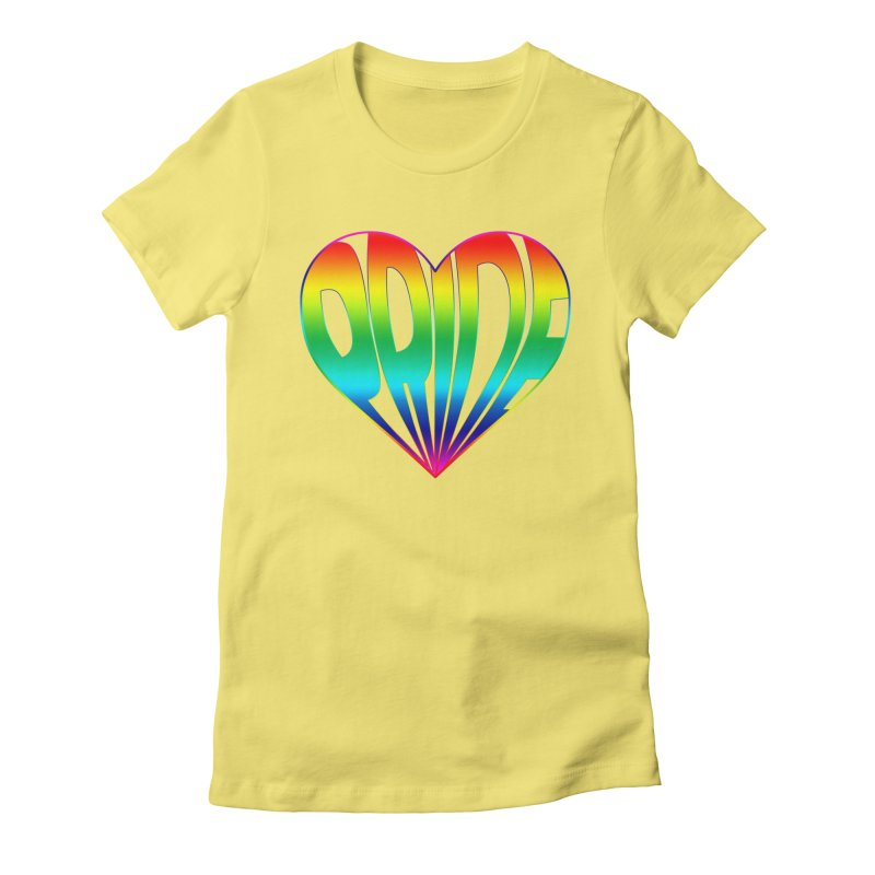 Pride - Rainbow Women's Fitted T-Shirt by The Wandering Fools