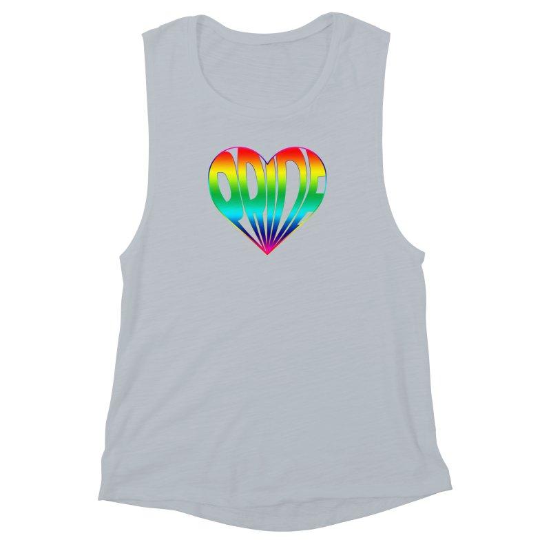 Pride - Rainbow Women's Muscle Tank by The Wandering Fools