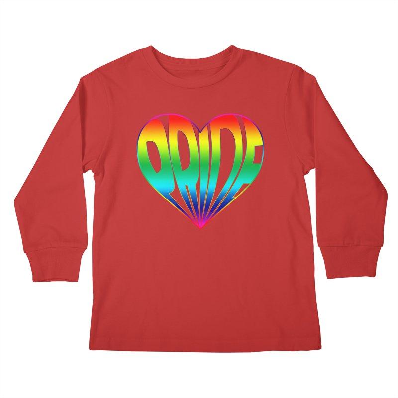 Pride - Rainbow Kids Longsleeve T-Shirt by The Wandering Fools