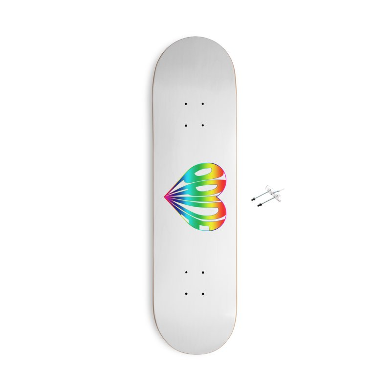 Pride - Rainbow Accessories With Hanging Hardware Skateboard by The Wandering Fools