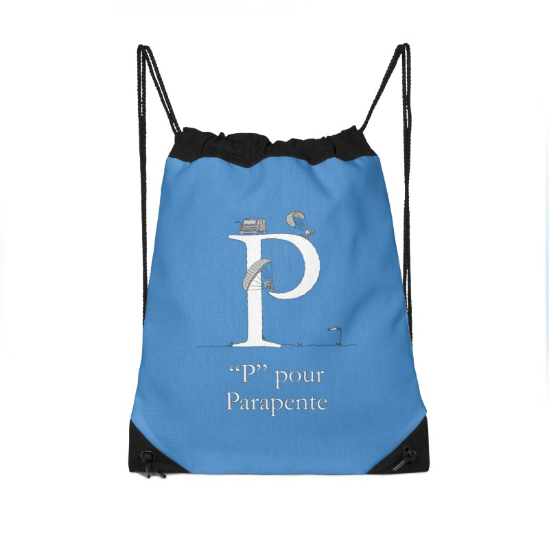 """""""P"""" pour Parapente Accessories Drawstring Bag Bag by The Wandering Fools"""