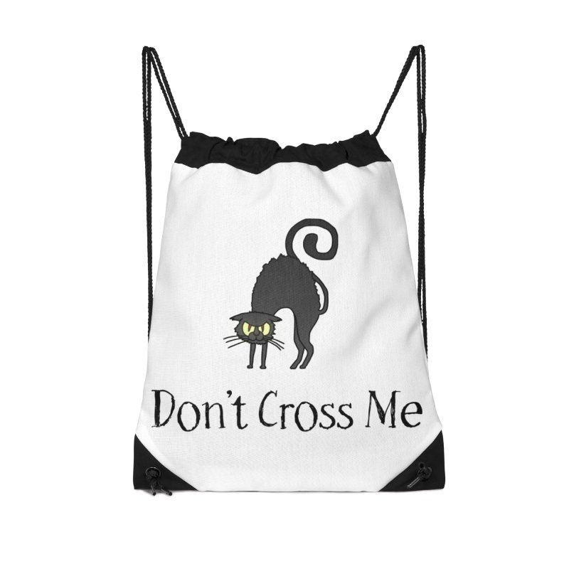 Don't Cross Me - Black Cat Accessories Bag by The Wandering Fools Artist Shop