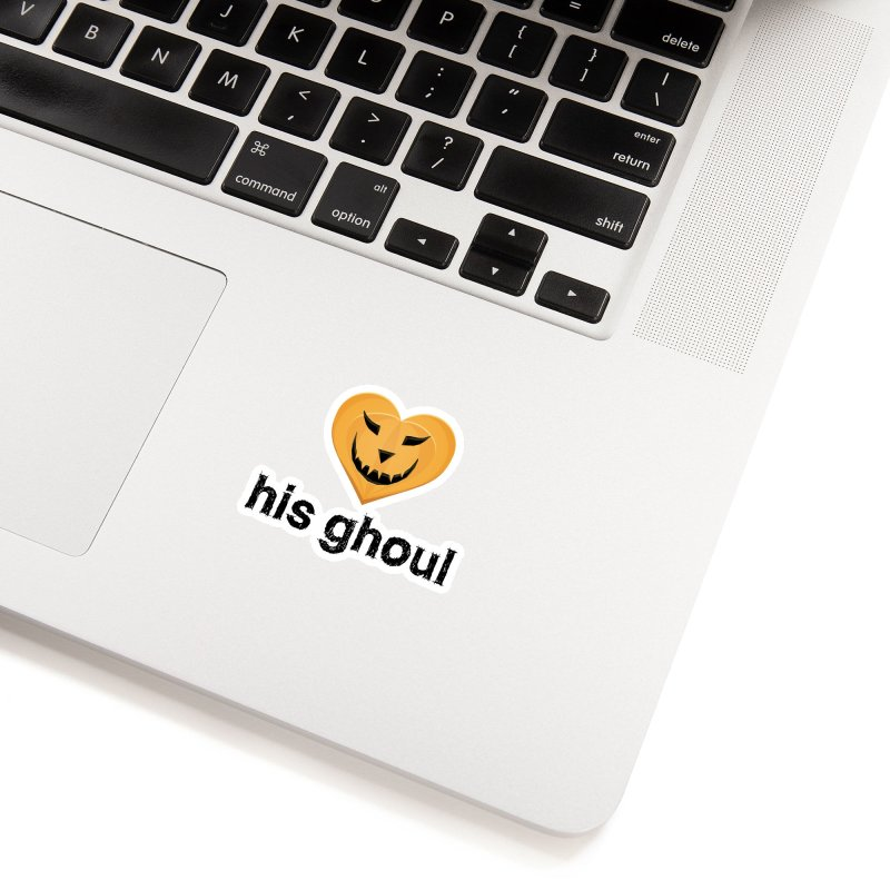 His Ghoul - Matching Couples - Halloween Accessories Sticker by The Wandering Fools