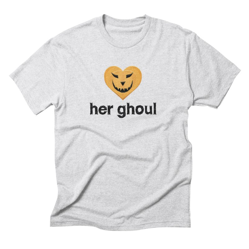Her Ghoul - Matching Couples - Halloween in Men's Triblend T-Shirt Heather White by The Wandering Fools