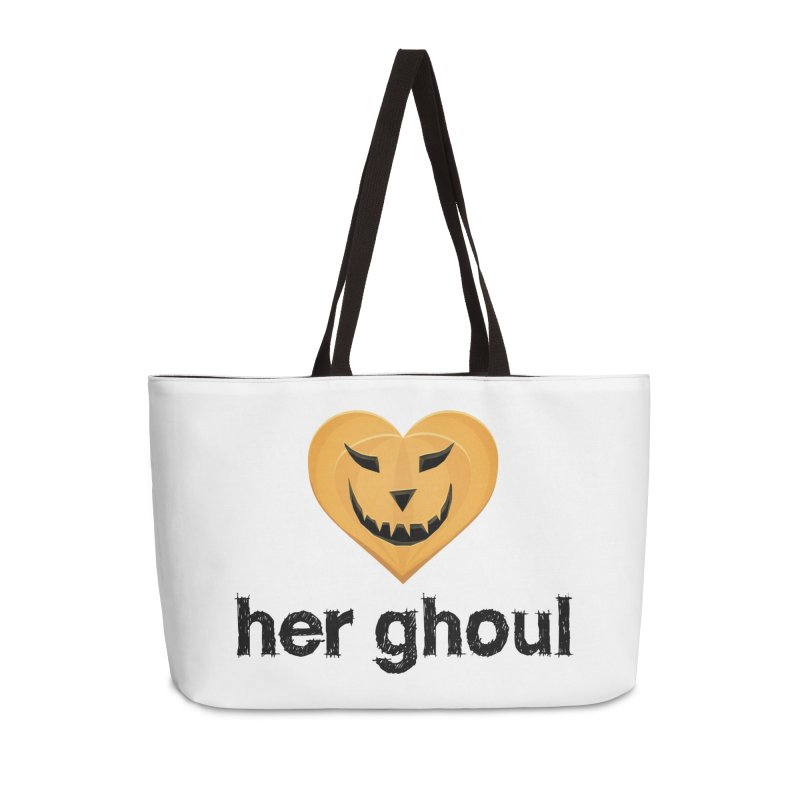 Her Ghoul - Matching Couples - Halloween Accessories Weekender Bag Bag by The Wandering Fools