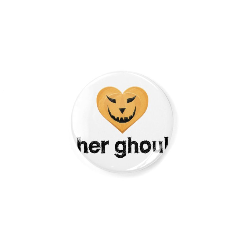 Her Ghoul - Matching Couples - Halloween Accessories Button by The Wandering Fools Artist Shop