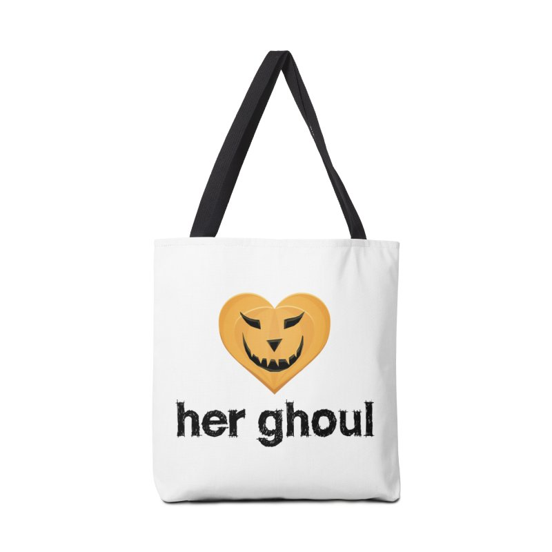 Her Ghoul - Matching Couples - Halloween Accessories Tote Bag Bag by The Wandering Fools