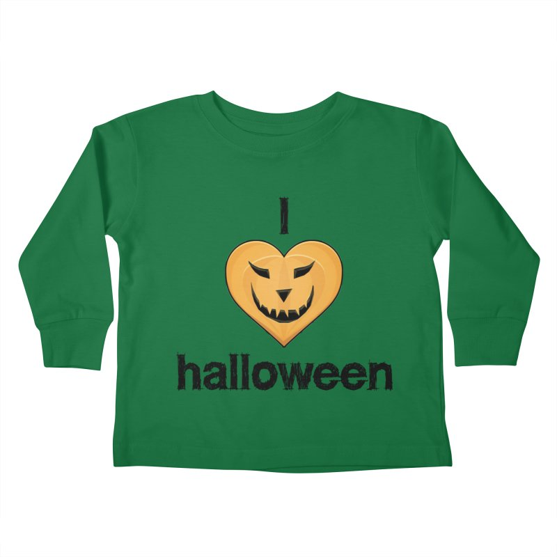I Love Halloween Kids Toddler Longsleeve T-Shirt by The Wandering Fools