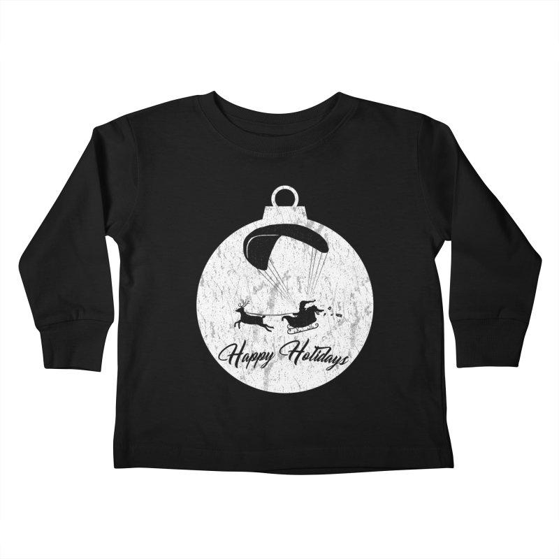 Happy Holidays - Paragliding Santa - Ornament Kids Toddler Longsleeve T-Shirt by The Wandering Fools