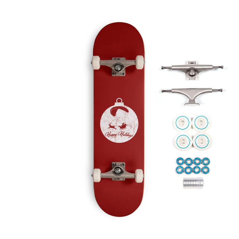 Happy Holidays - Paragliding Santa - Ornament Accessories Skateboard by The Wandering Fools Artist Shop