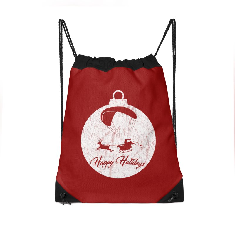 Happy Holidays - Paragliding Santa - Ornament Accessories Bag by The Wandering Fools Artist Shop