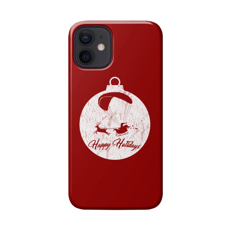 Happy Holidays - Paragliding Santa - Ornament Accessories Phone Case by The Wandering Fools Artist Shop