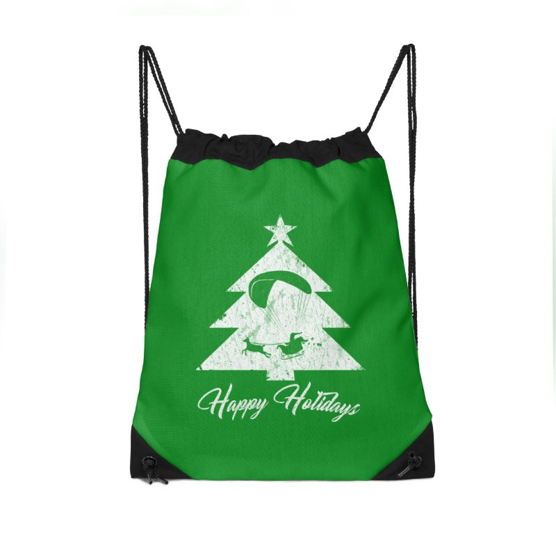 Happy Holidays - Paragliding Santa - Christmas Tree Accessories Bag by The Wandering Fools Artist Shop