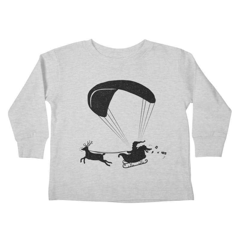 Happy Holidays - Paragliding Santa - Textless Kids Toddler Longsleeve T-Shirt by The Wandering Fools