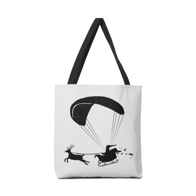 Happy Holidays - Paragliding Santa - Textless Accessories Tote Bag Bag by The Wandering Fools