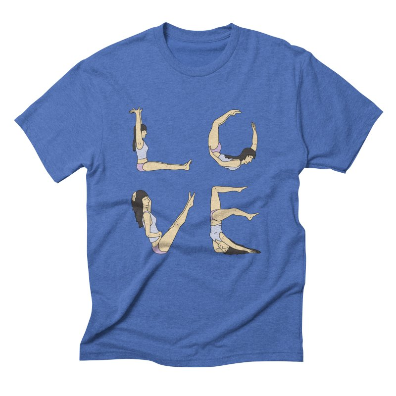 Love Lazing Around - Gal in Men's Triblend T-Shirt Blue Triblend by The Wandering Fools