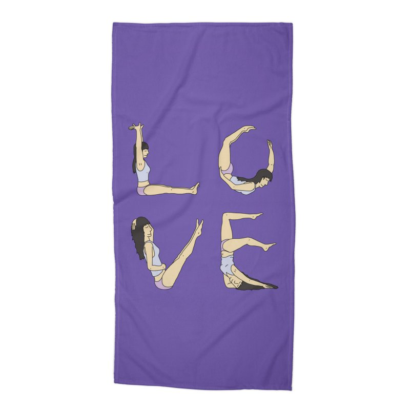 Love Lazing Around - Gal Accessories Beach Towel by The Wandering Fools Artist Shop
