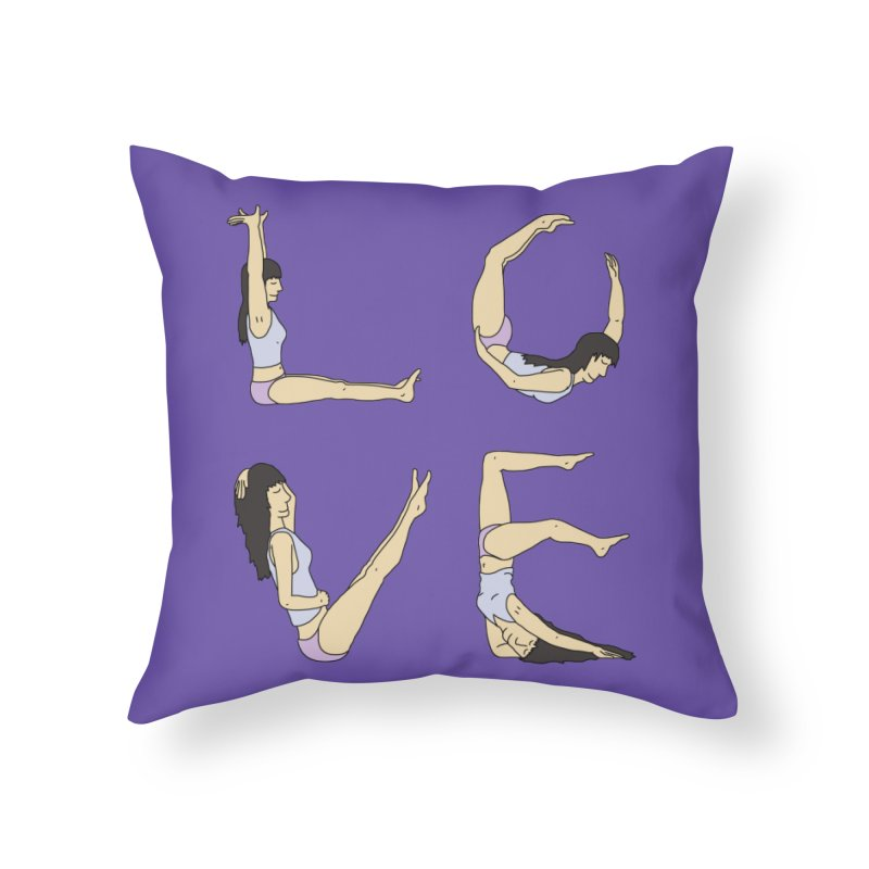 Love Lazing Around - Gal Home Throw Pillow by The Wandering Fools Artist Shop