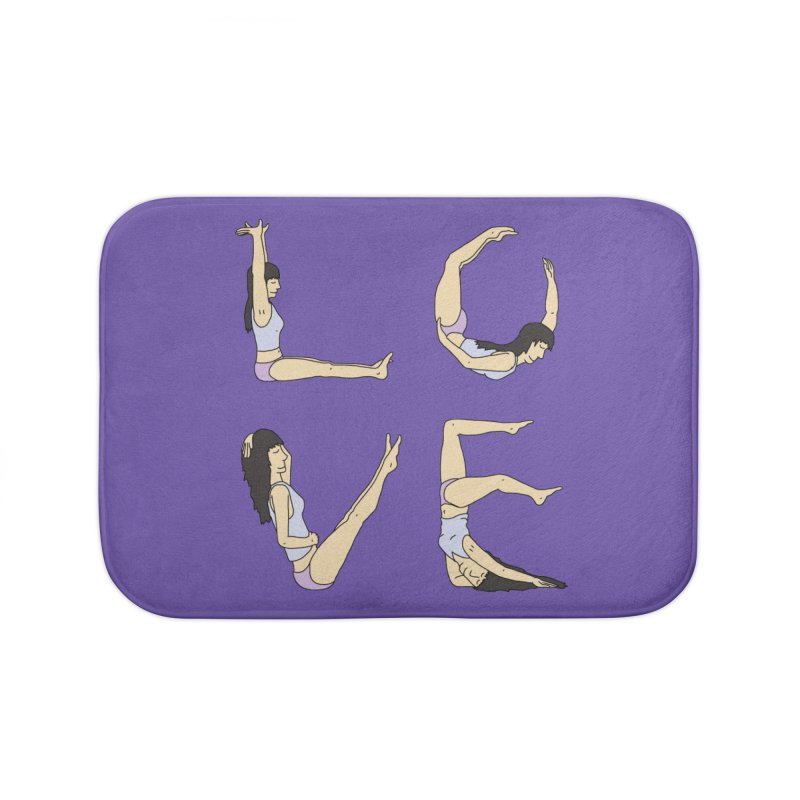 Love Lazing Around - Gal Home Bath Mat by The Wandering Fools Artist Shop