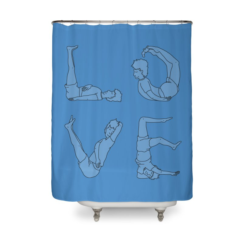 Love Lazing Around - Guy Home Shower Curtain by The Wandering Fools Artist Shop