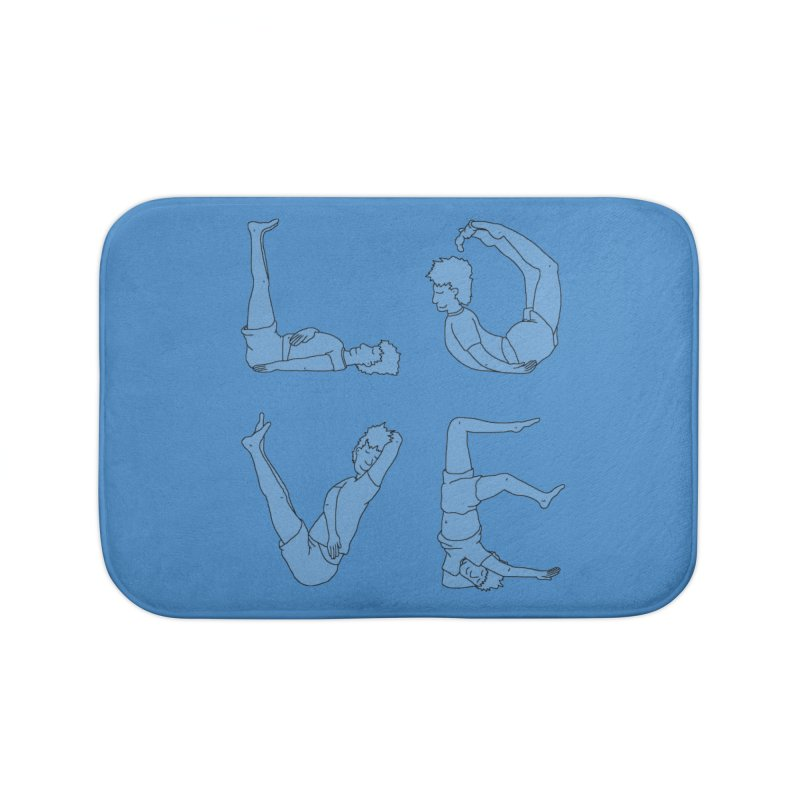 Love Lazing Around - Guy Home Bath Mat by The Wandering Fools Artist Shop