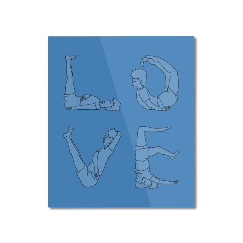 Love Lazing Around - Guy Home Mounted Aluminum Print by The Wandering Fools Artist Shop
