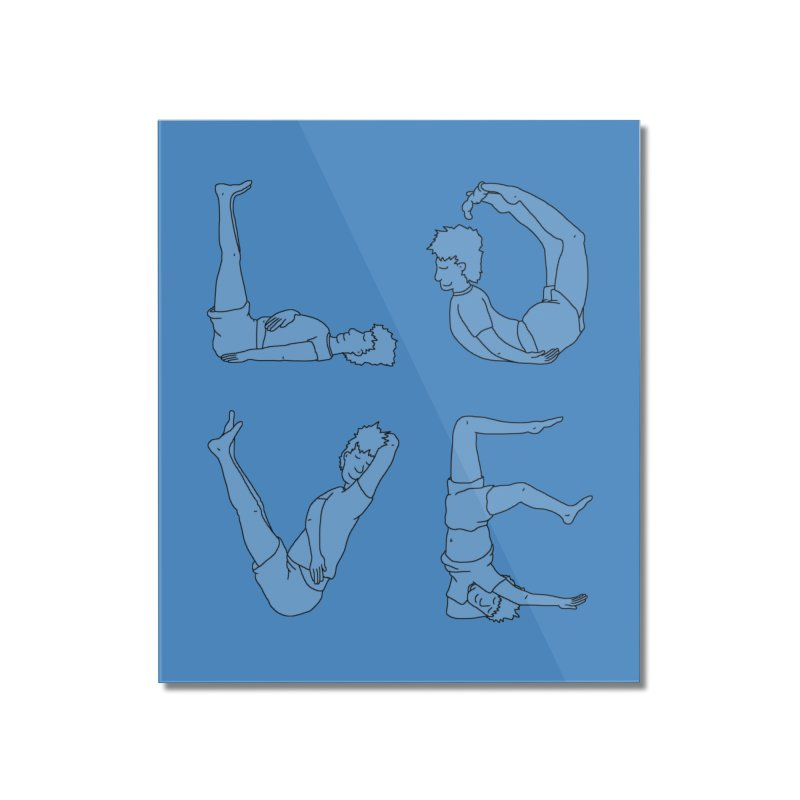 Love Lazing Around - Guy Home Mounted Acrylic Print by The Wandering Fools Artist Shop