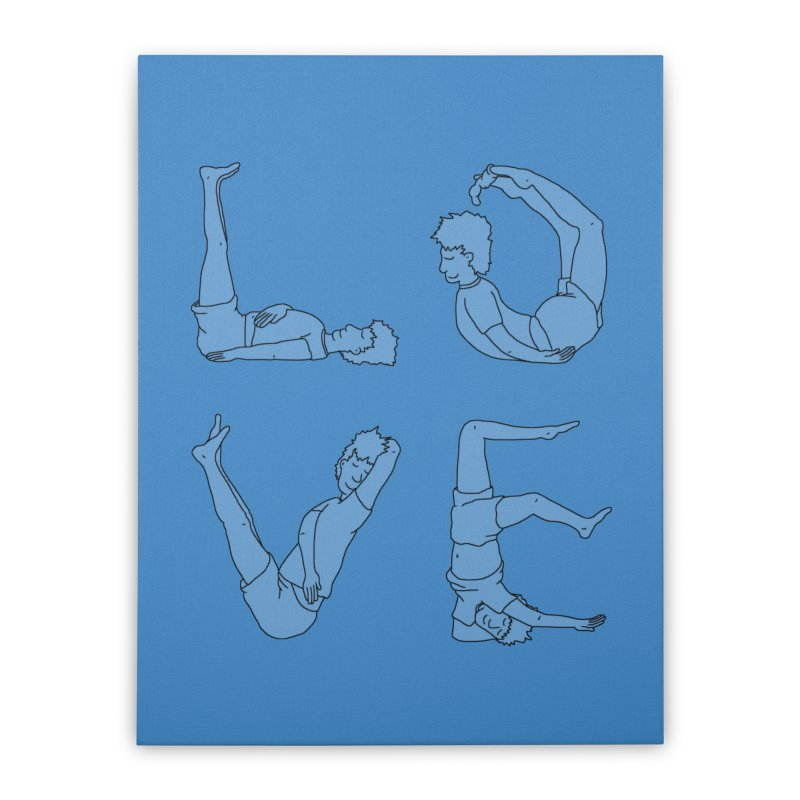 Love Lazing Around - Guy Home Stretched Canvas by The Wandering Fools Artist Shop