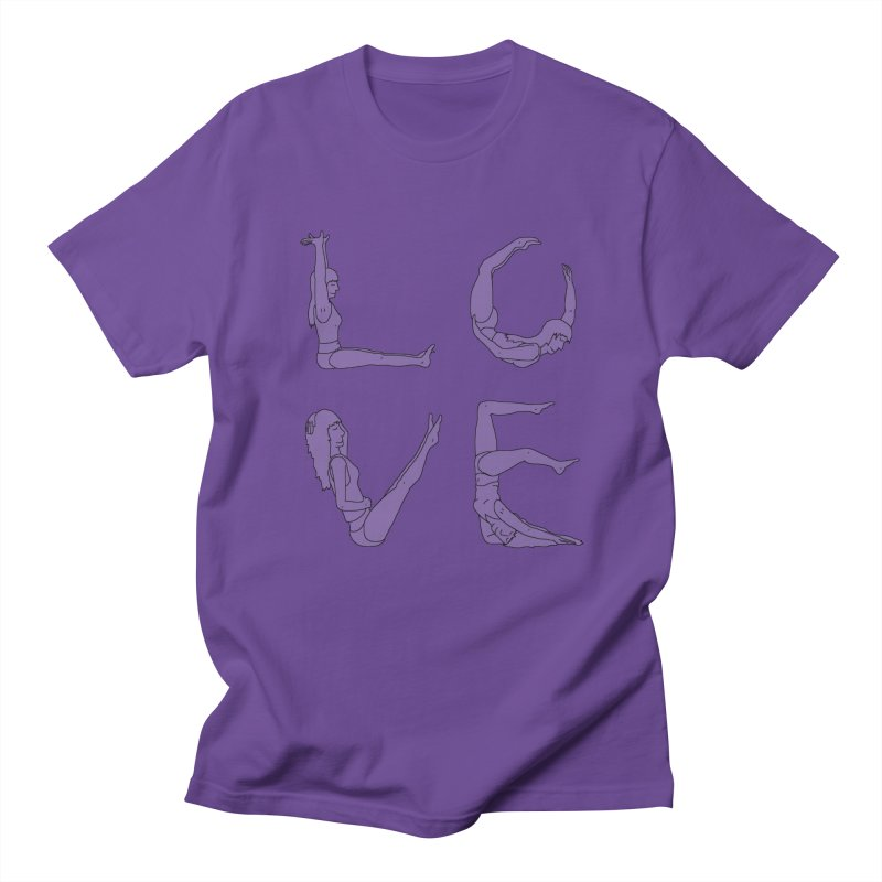 Love Lazing Around - Gal in Men's Regular T-Shirt Purple by The Wandering Fools