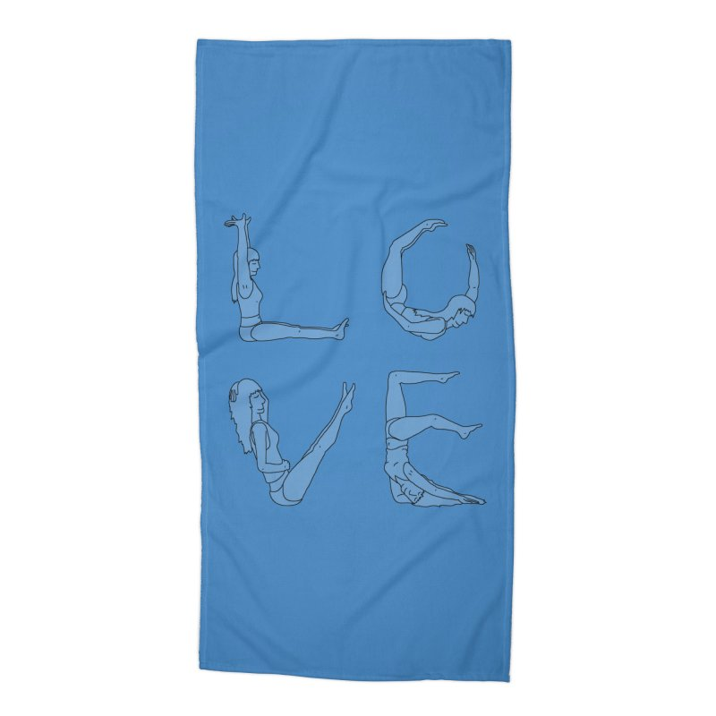 Love Lazing Around - Gal Accessories Beach Towel by The Wandering Fools