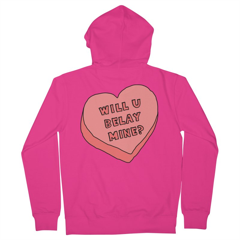 Will U Belay Mine? Men's French Terry Zip-Up Hoody by The Wandering Fools