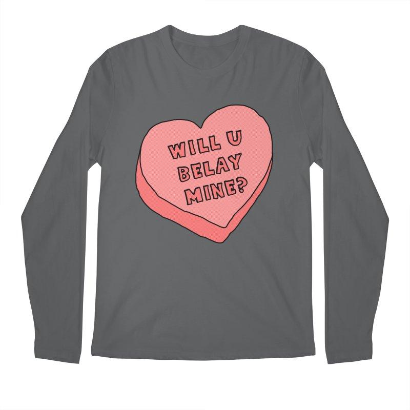 Will U Belay Mine? Men's Longsleeve T-Shirt by The Wandering Fools Artist Shop