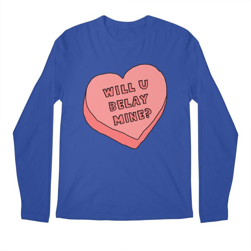 Will U Belay Mine? Men's Regular Longsleeve T-Shirt by The Wandering Fools