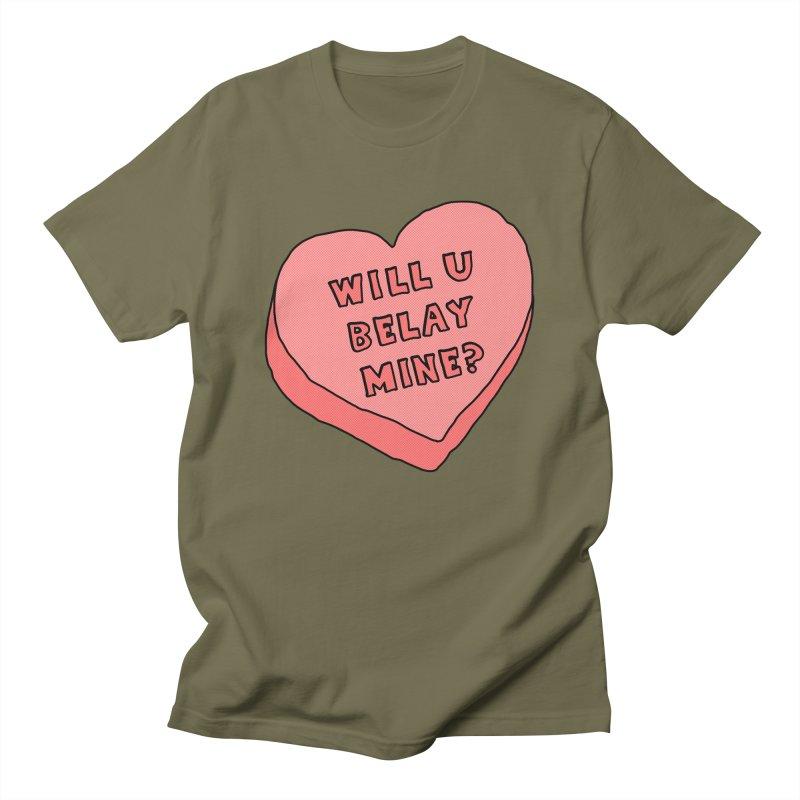 Will U Belay Mine? Men's Regular T-Shirt by The Wandering Fools