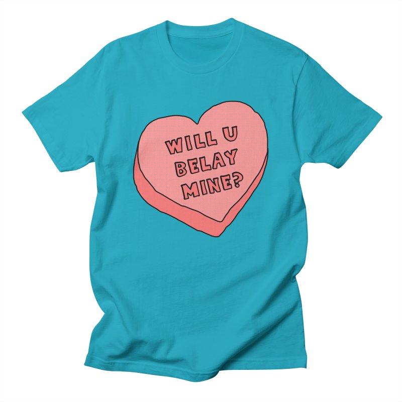 Will U Belay Mine? Women's Regular Unisex T-Shirt by The Wandering Fools