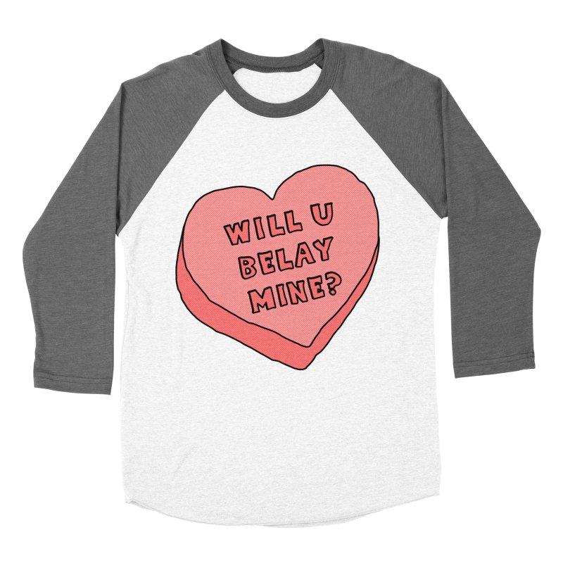 Will U Belay Mine? Women's Baseball Triblend Longsleeve T-Shirt by The Wandering Fools