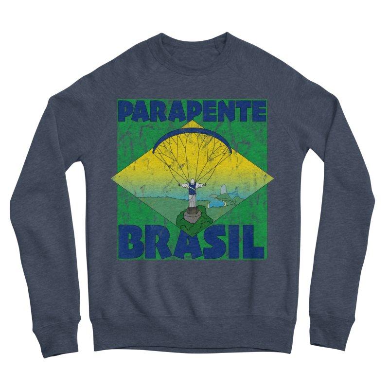 Parapente Brasil - Paraglide Brazil - Grunge Women's Sponge Fleece Sweatshirt by The Wandering Fools