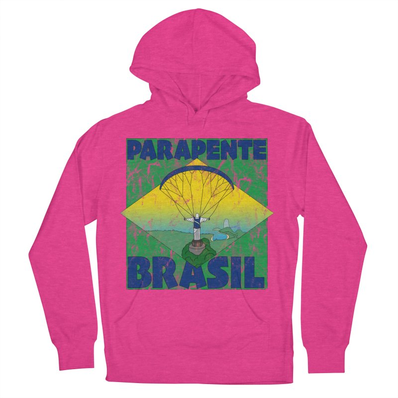 Parapente Brasil - Paraglide Brazil - Grunge Women's French Terry Pullover Hoody by The Wandering Fools